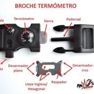 Infografía Broche Termómetro supervivencia