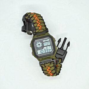 Reloj digital con Paracord